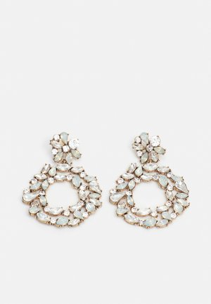PCNICOLA EARRINGS - Earrings - gold-coloured/clear