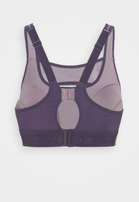Nike Performance - ALPHA BRA - High support sports bra - purple smoke/dark raisin - 1