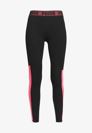LOGO - Leggings - black/ignite pink