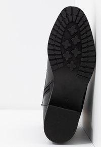 Anna Field - LEATHER WINTER BOOTIES - Botines con cordones - black - 6