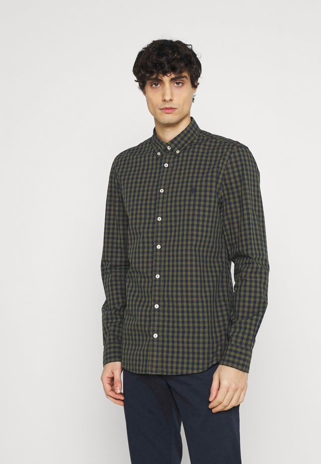 BUTTON DOWN LONG SLEEVE INSERTED - Shirt - multi/pesto