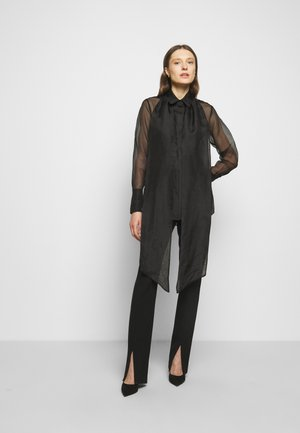 RUFFLE TIE BLOUSE - Skjorte - black