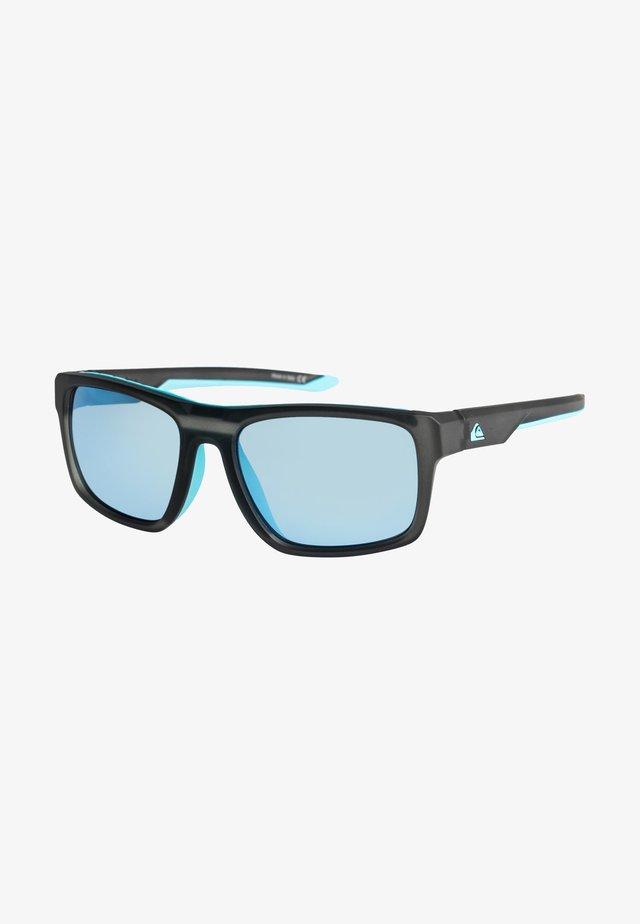 Sunglasses - matte crystal smoke/flash blue