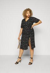 Fashion Union Plus - CORA DRESS - Day dress - black - 1