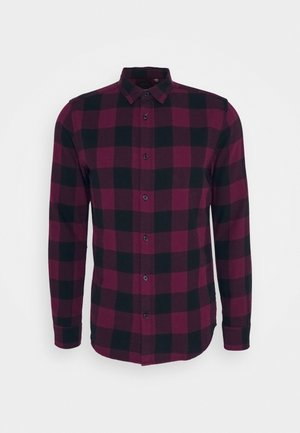 ONSGUDMUND CHECKED - Shirt - cabernet