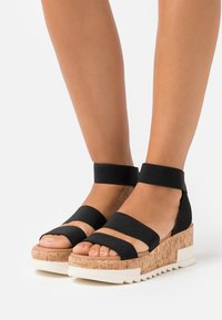 New Look - PORTSEA - Platform sandals - black - 0