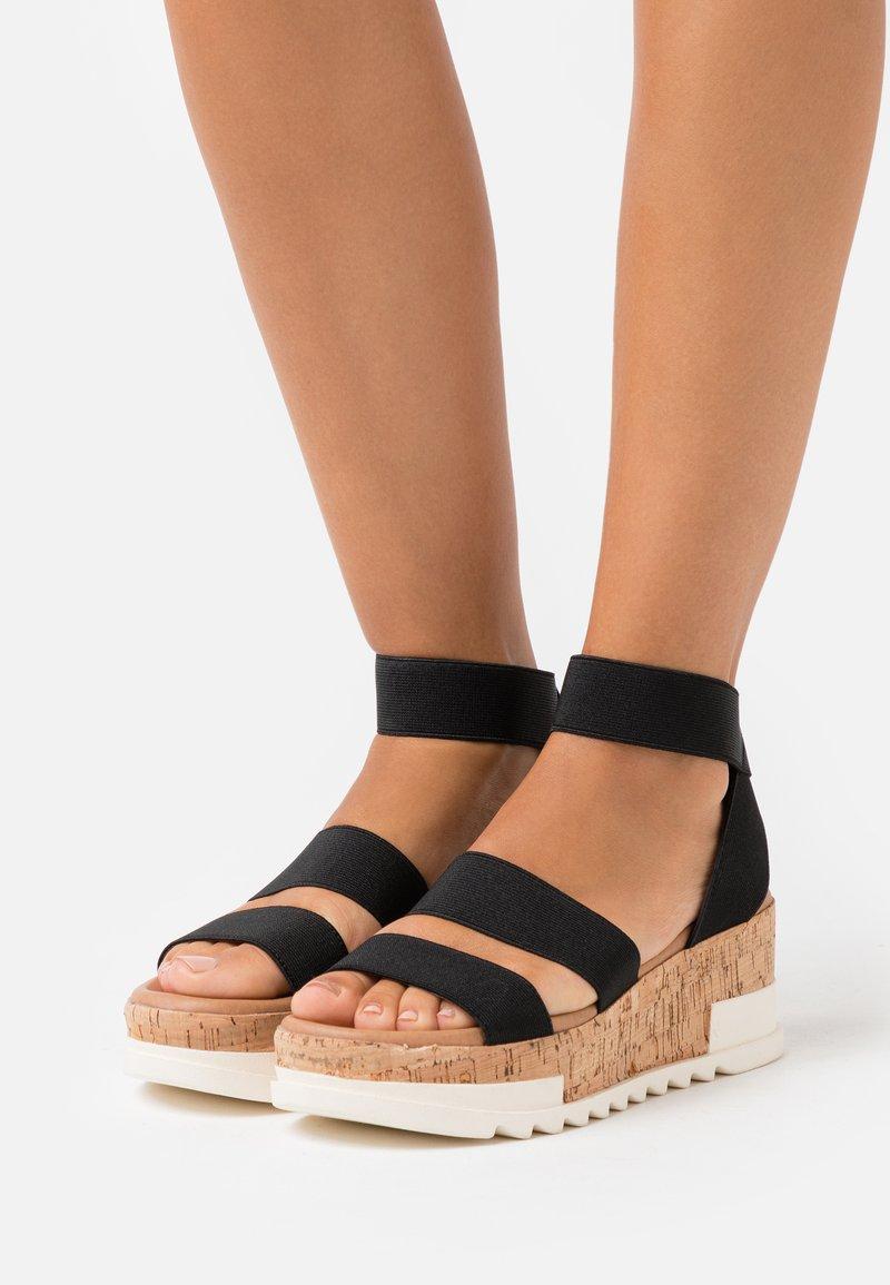 New Look - PORTSEA - Platform sandals - black
