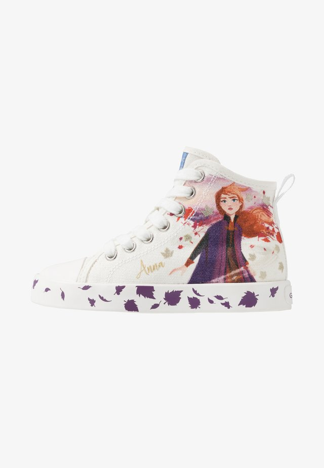 JR CIAK GIRL FROZEN ELSA & ANNA - Sneakers alte - white/mutlicolour