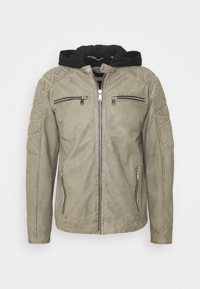 SHADES - Leather jacket - light grey