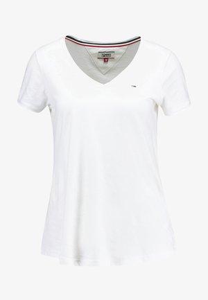 SOFT V NECK TEE - T-Shirt basic - classic white
