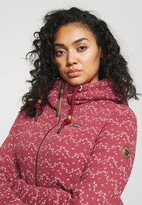 Ragwear Plus - NESKA PRINT ZIP - Zip-up sweatshirt - raspberry - 3