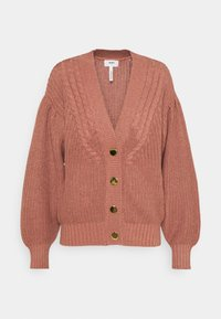 Object Tall - OBJBIRGITHA CARDIGAN - Cardigan - withered rose - 0
