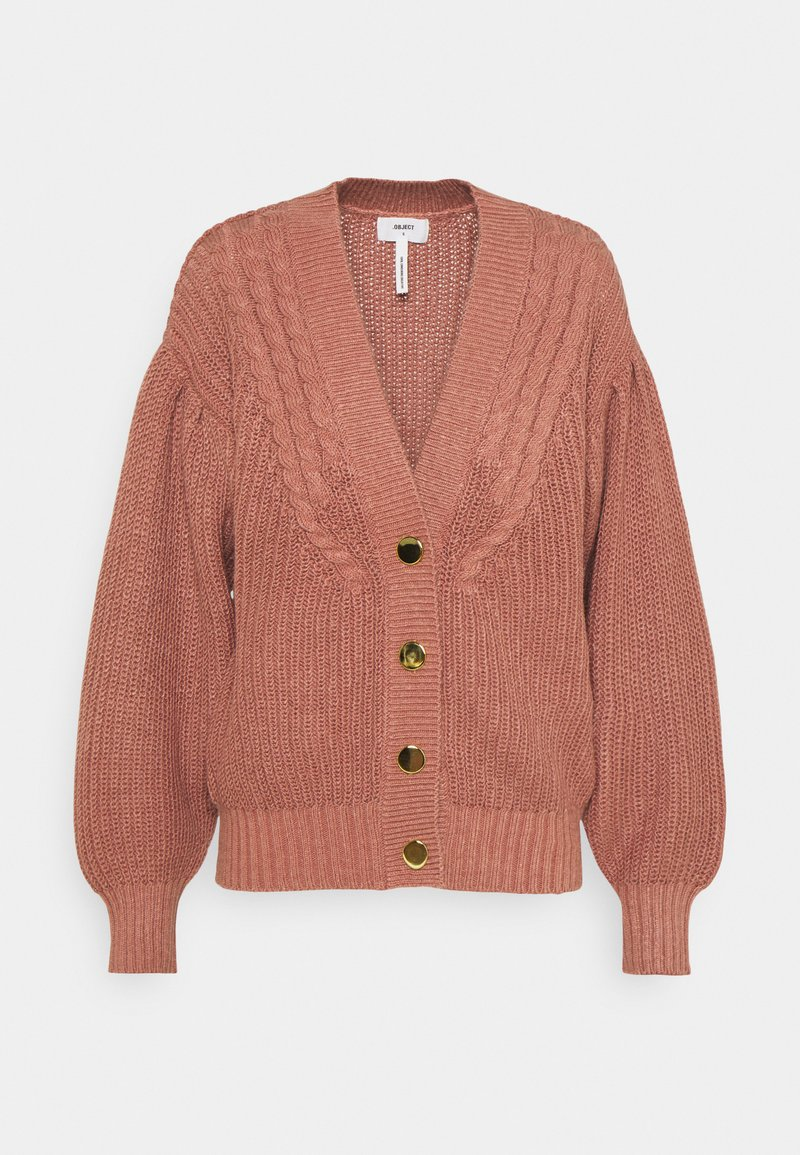 Object Tall - OBJBIRGITHA CARDIGAN - Cardigan - withered rose