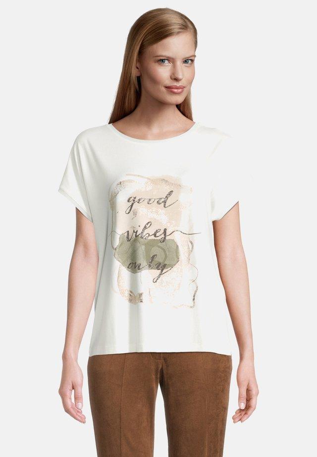 T-shirt imprimé - cream/nature