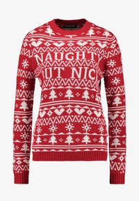 Fashion Union - CHRISTMAS NAUGTHY BUT NICE - Jumper - red - 3