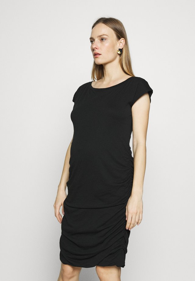 SHIRRED - Jersey dress - true black