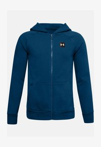 Under Armour - UA RIVAL - Zip-up hoodie - graphite blue - 0
