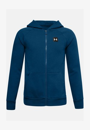 UA RIVAL - Zip-up hoodie - graphite blue