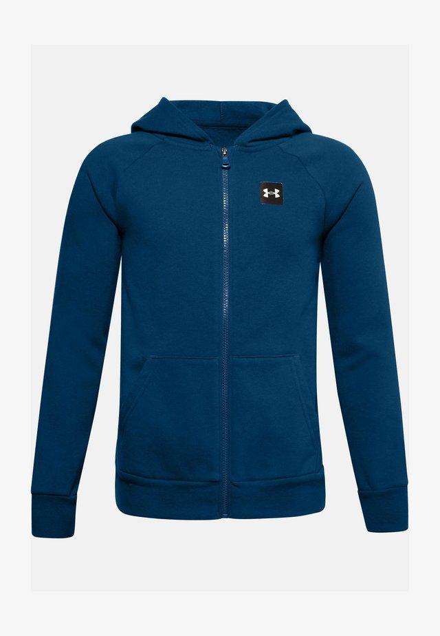 UA RIVAL - Zip-up hoodie - graphite blue