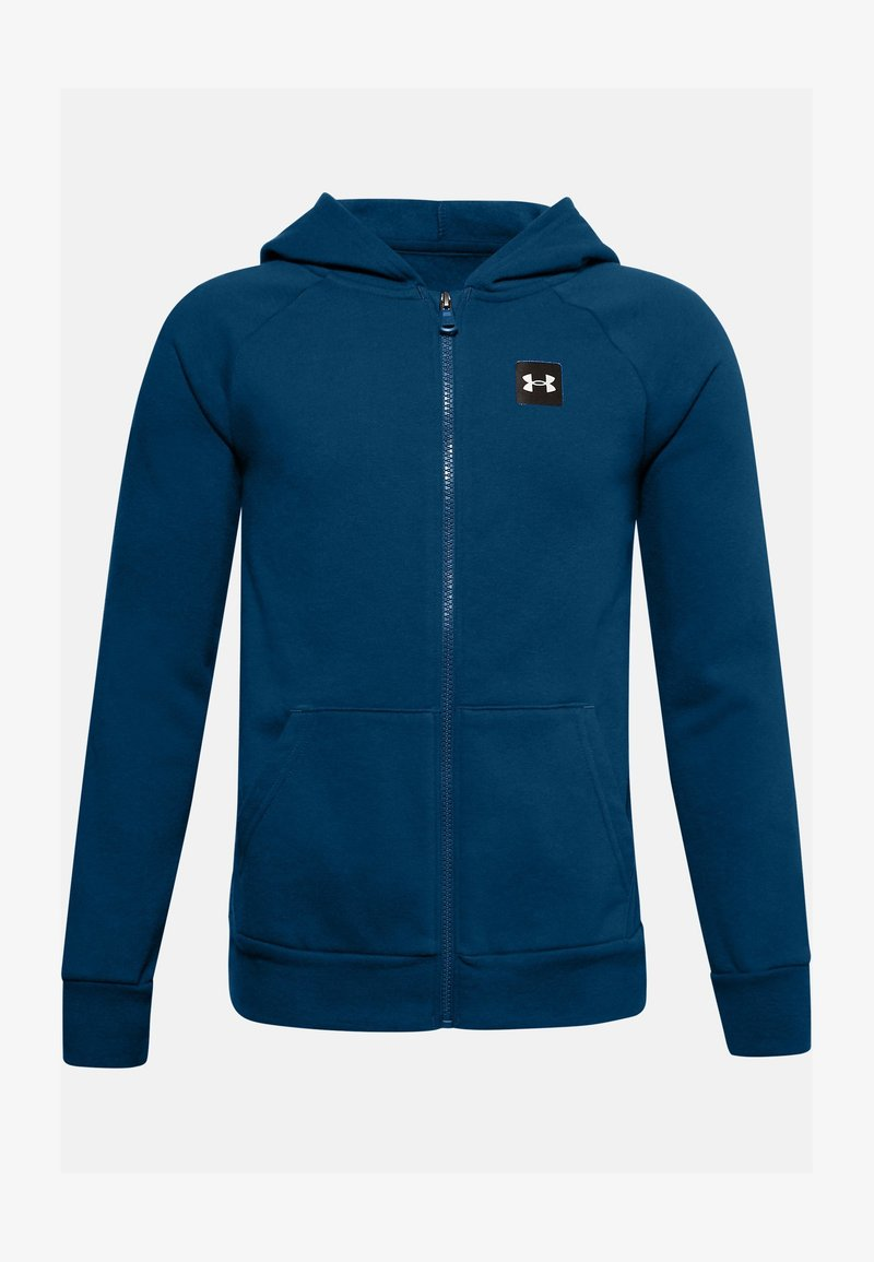 Under Armour - UA RIVAL - Zip-up hoodie - graphite blue