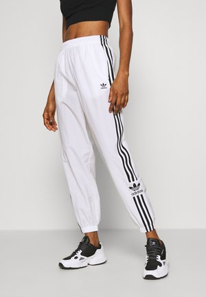 LOCK UP ADICOLOR NYLON TRACK PANTS - Tracksuit bottoms - white