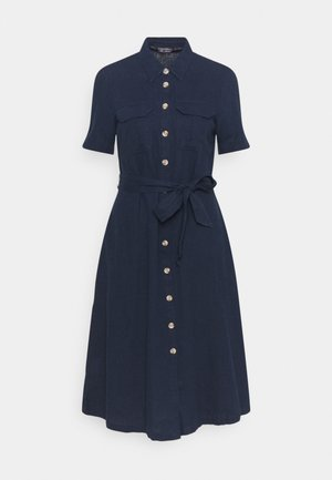 MIDI SHIRT DRESS - Day dress - dark blue