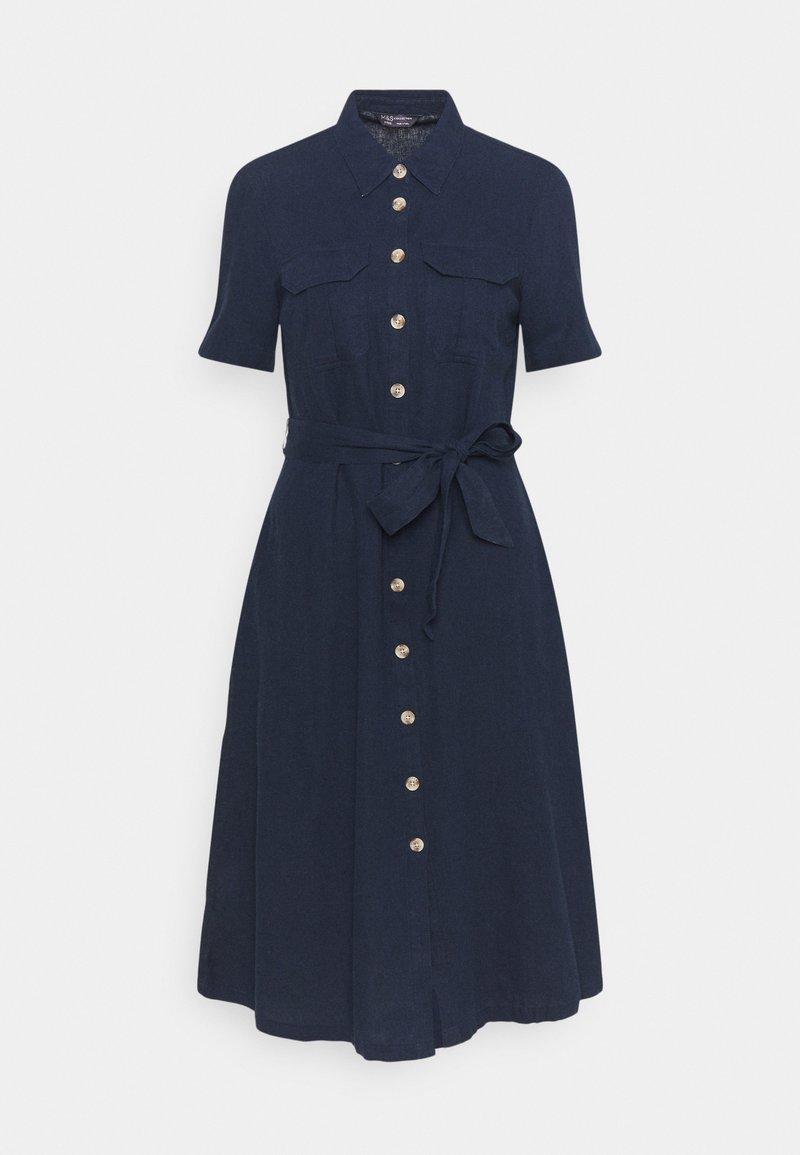 Marks & Spencer London - MIDI SHIRT DRESS - Skjortekjole - dark blue