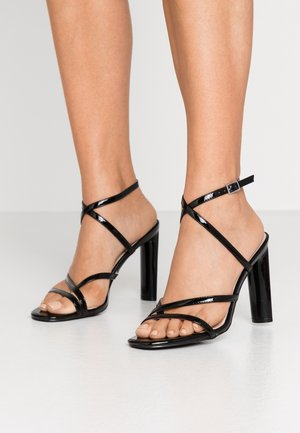 PETAL - High heeled sandals - black