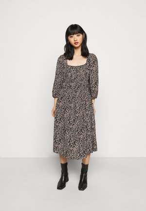 PCKIKI MIDI DRESS  - Hverdagskjoler - black/purple