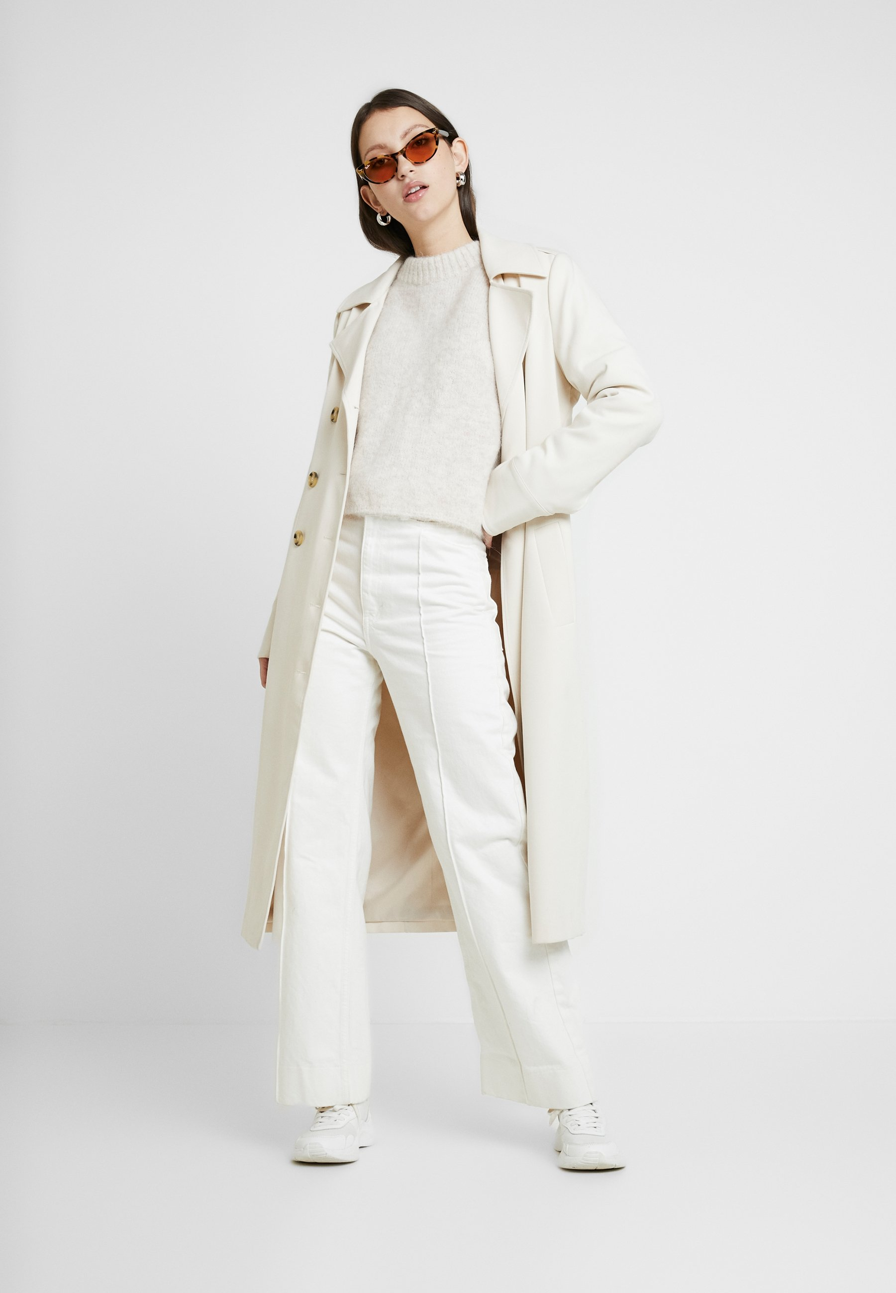 PAULINA Stickad tröja white melange