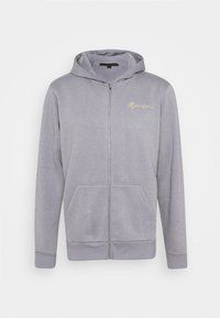 ESSENTIAL RELAXED ZIP TRHOUGH HOODIE UNISEX - Zip-up sweatshirt - grey
