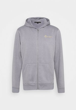 ESSENTIAL RELAXED ZIP TRHOUGH HOODIE UNISEX - Collegetakki - grey