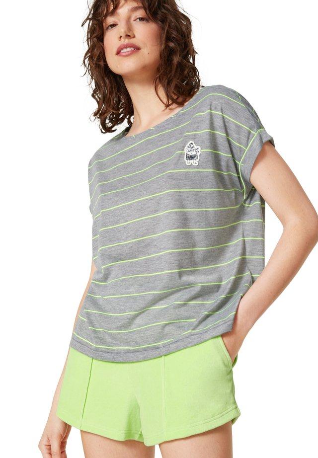 T-shirt print - hellgrau/lime
