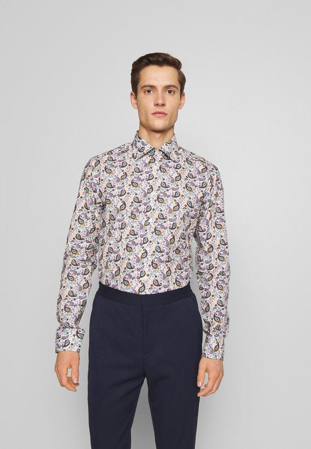 SLIM FIT - Zakelijk overhemd - white/brown