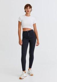 PULL&BEAR - Jeans Skinny Fit - mottled black - 1