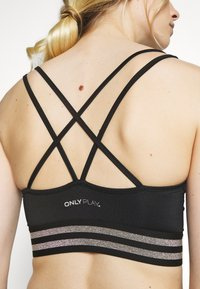 ONLY Play - ONPSILVER SPORTS BRA - Soutien-gorge de sport - black/gun metal - 5