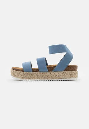 KIMMIE - Platform sandals - light blue
