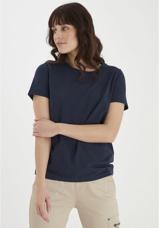 FRANSA - Basic T-shirt - dark peacoat