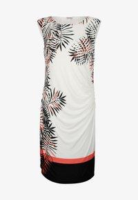 Alba Moda - Jersey dress - off-white schwarz orange - 5