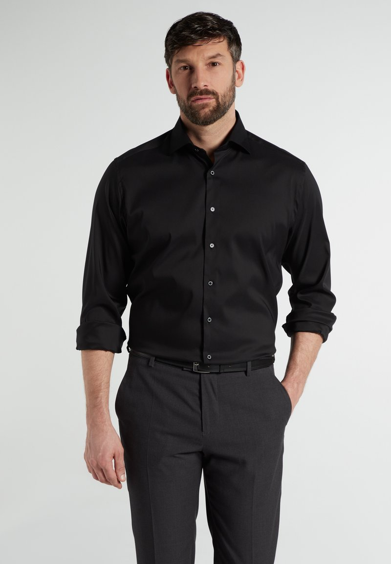 Eterna - MODERN FIT - Shirt - schwarz