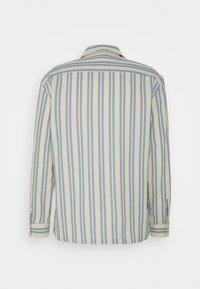 Club Monaco - WAFFLE STRIPE - Shirt - blue/vintage tan - 1