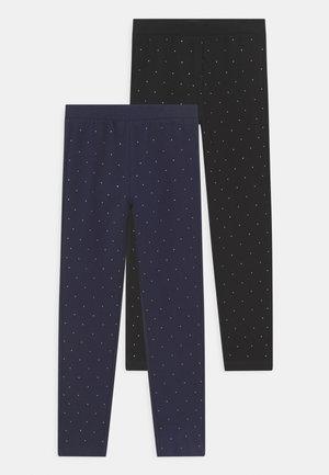 KID FULL STRASS 2 PACK - Legíny - insignia blue/pirate black