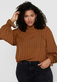 ONLY Carmakoma - Blouse - tobacco brown - 3