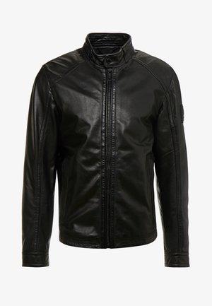 FLAG - Leather jacket - black