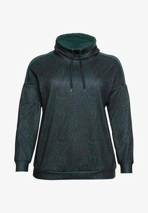 FUNKTIONS - Sweatshirt - tiefgrün gemustert