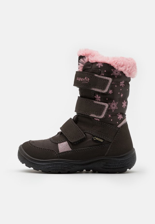 CRYSTAL - Zimní obuv - braun/rosa