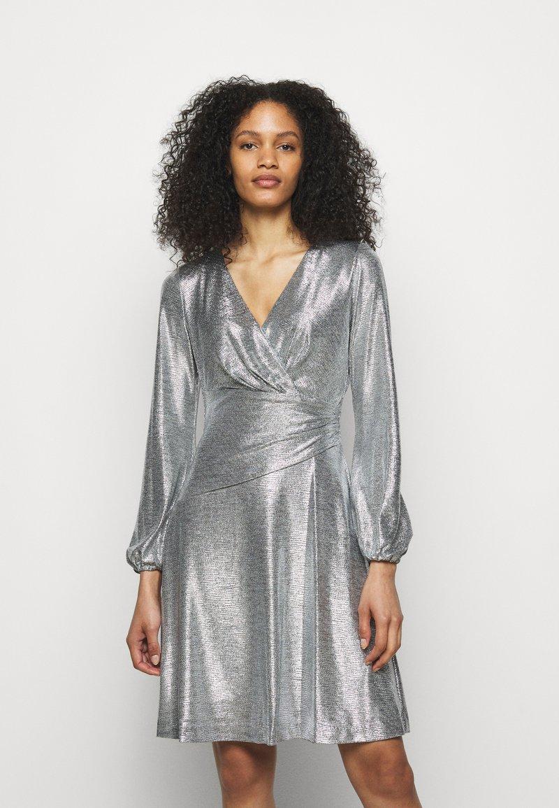 Lauren Ralph Lauren - DRESS - Cocktail dress / Party dress - dark grey/silver