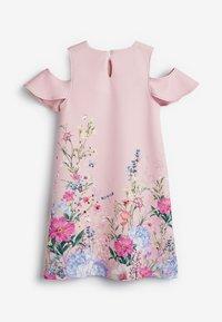 Next - BERRY FLORAL PONTE  - Day dress - light pink - 1