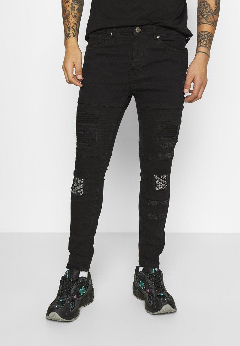 Brave Soul - BANDANA - Slim fit jeans - charcoal wash