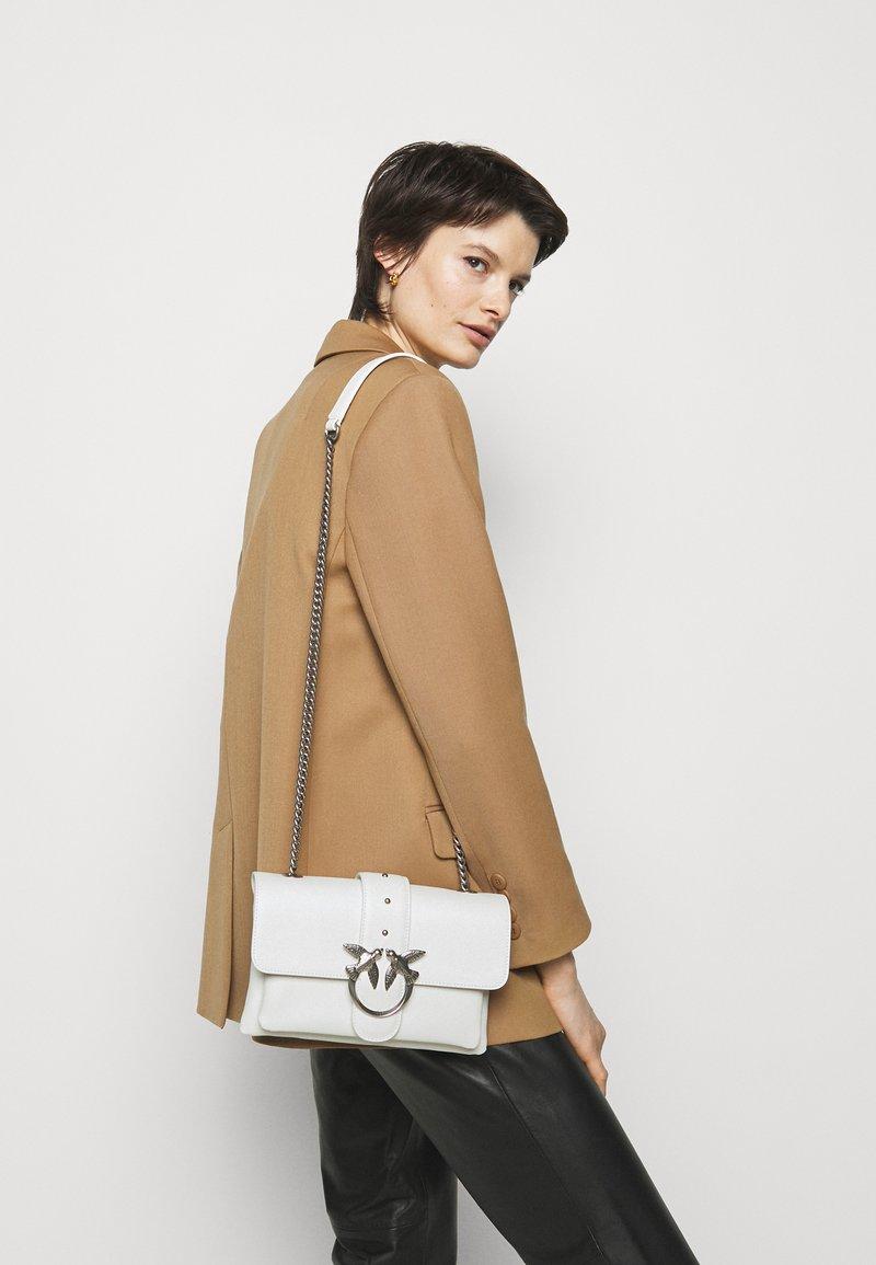 Pinko - LOVE MINI SOFT SIMPLY - Across body bag - white